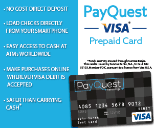 A clever way to control your spending PayQuest Visa Prepaid