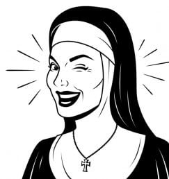 When it comes to religion, women are less dumb than men.
