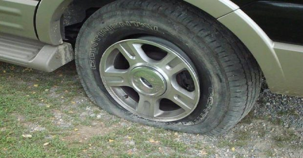 Fix-a-Flat should be part of your emergency car kit.