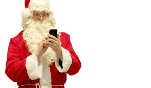 Even Santa does some online holiday shopping.
