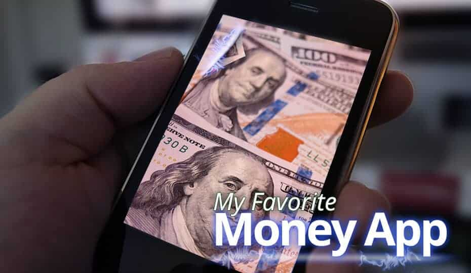 picture of $100 bills on a phone