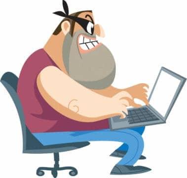Illustration of social media identity theft