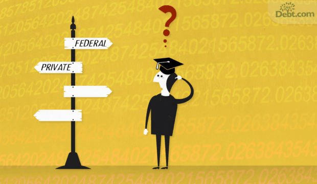 student confused about taking the public or privet loan route (illustrated)