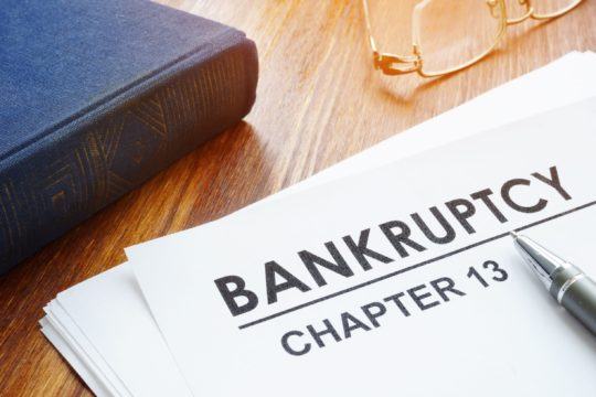 chapter 13 bankruptcy papers and judge's gavel