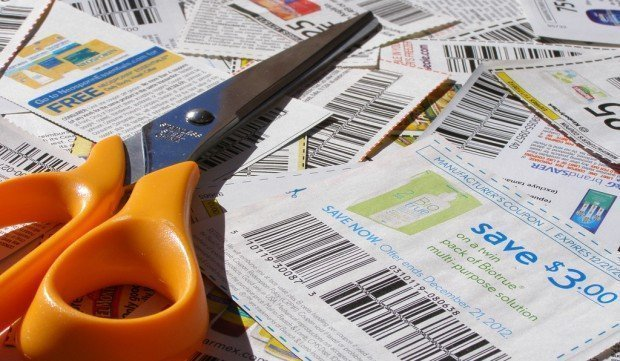 Clipped Coupons With Scissors 2