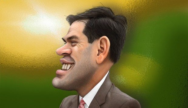 Marco Rubio caught up in the politics of student loans (illustration)