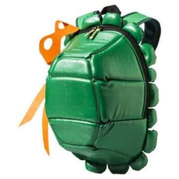 This unique backpack is made to look like a Teenage Mutant Ninja Turtle shell.