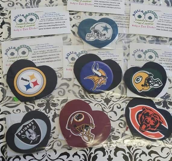 NFL team pasties