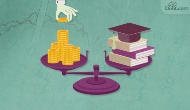 One student loan payment balanced with your income
