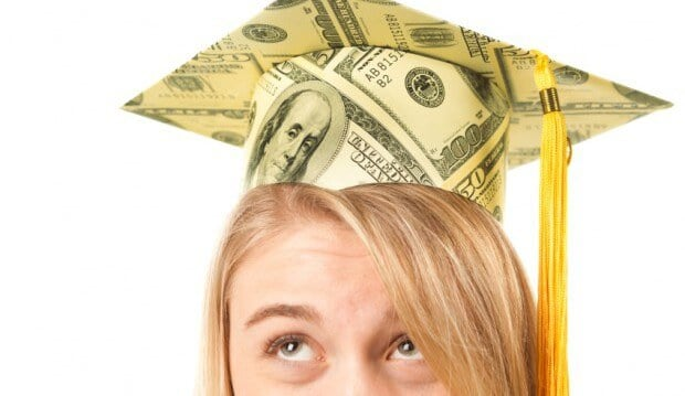 The average student loan debt