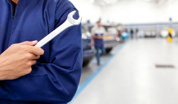 Men and women avoid auto repair shops