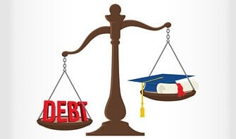 student loan debt outweighs the starting salary of a college graduate
