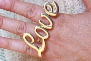 love two-finger ring alternative
