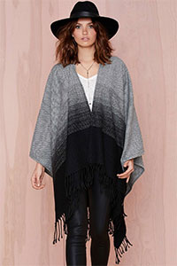 cheap knit poncho