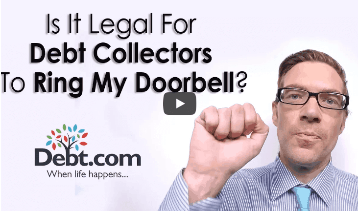 This video answers the question: Is it legal for debt collectors to ring my doorbell?