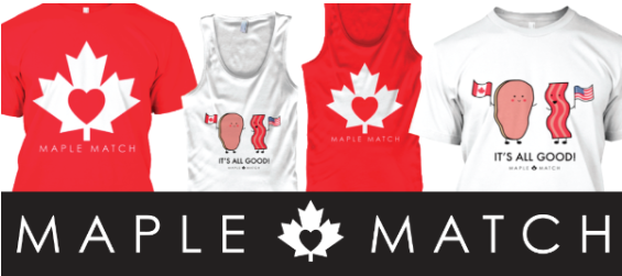 A screenshot of Maple Match merchandise