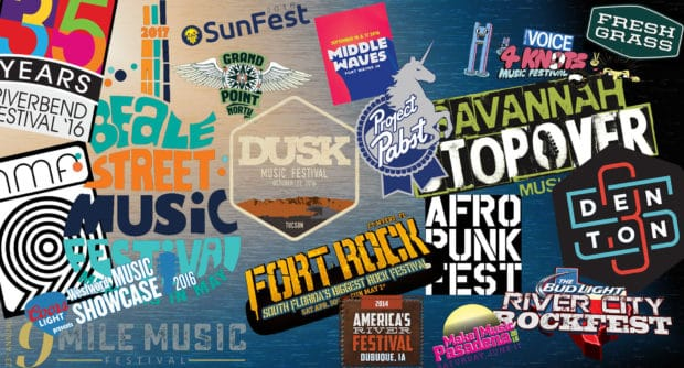 logos of music festivals