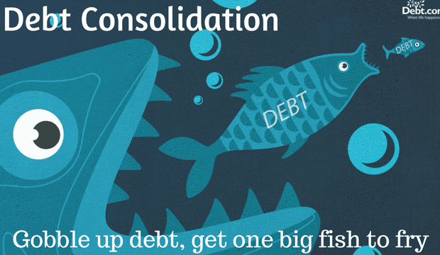 Debt Consolidation: Gobble up debt, get one big fish to fry