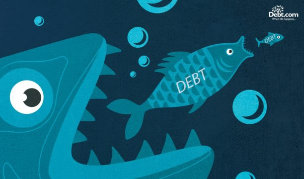 Debt consolidation eats up smaller debts so you have one big fish to fry