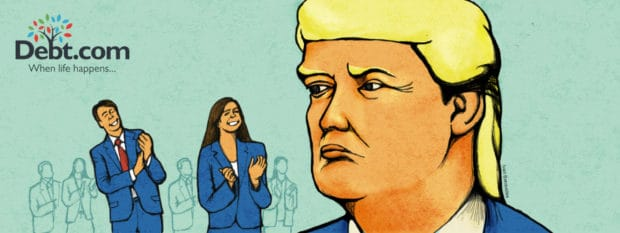 A giant rump imposingly looks at members of Congress (illustrated)