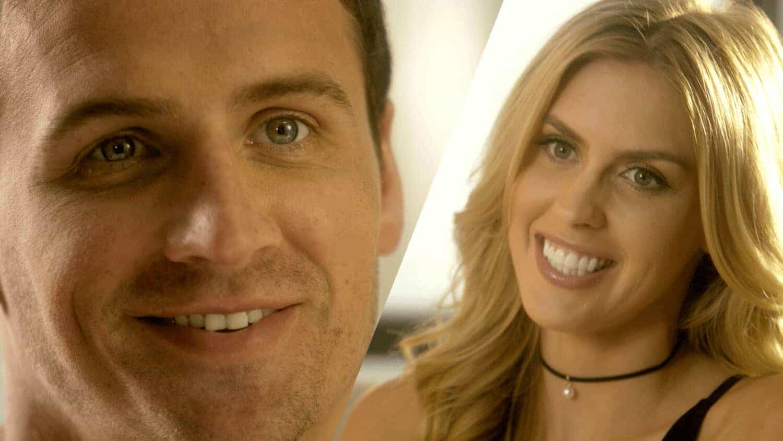 Close up thumbnail of Debt.com Spokesperson Olympic Gold Medalist Ryan Locthe and fiancé Kayla Reid