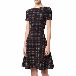 Carolina Herrera Plaid Knitted Flared Dress $1_990