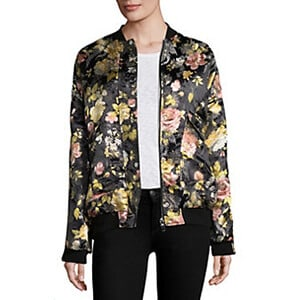 Free People Floral Jacquard Bomber Jacket $168.00 Saks Fifth Avenue