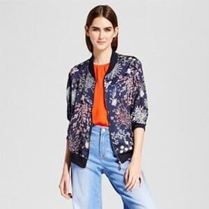 Womens printed bomber jacket - Target $39.99