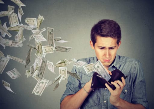 Money stress can be caused by an empty wallet