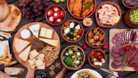 Tapas food on a table