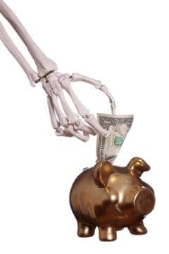 Skeletons stealing money out of your bank? These real debt horror stories are worse