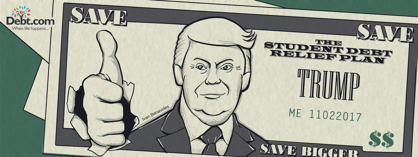 Donald Trump-faced money (illustrated)