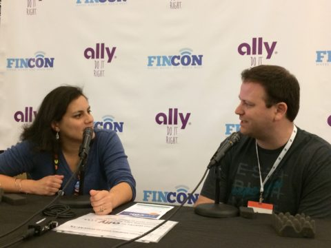 Elle from Couple Money on a panel at FinCon