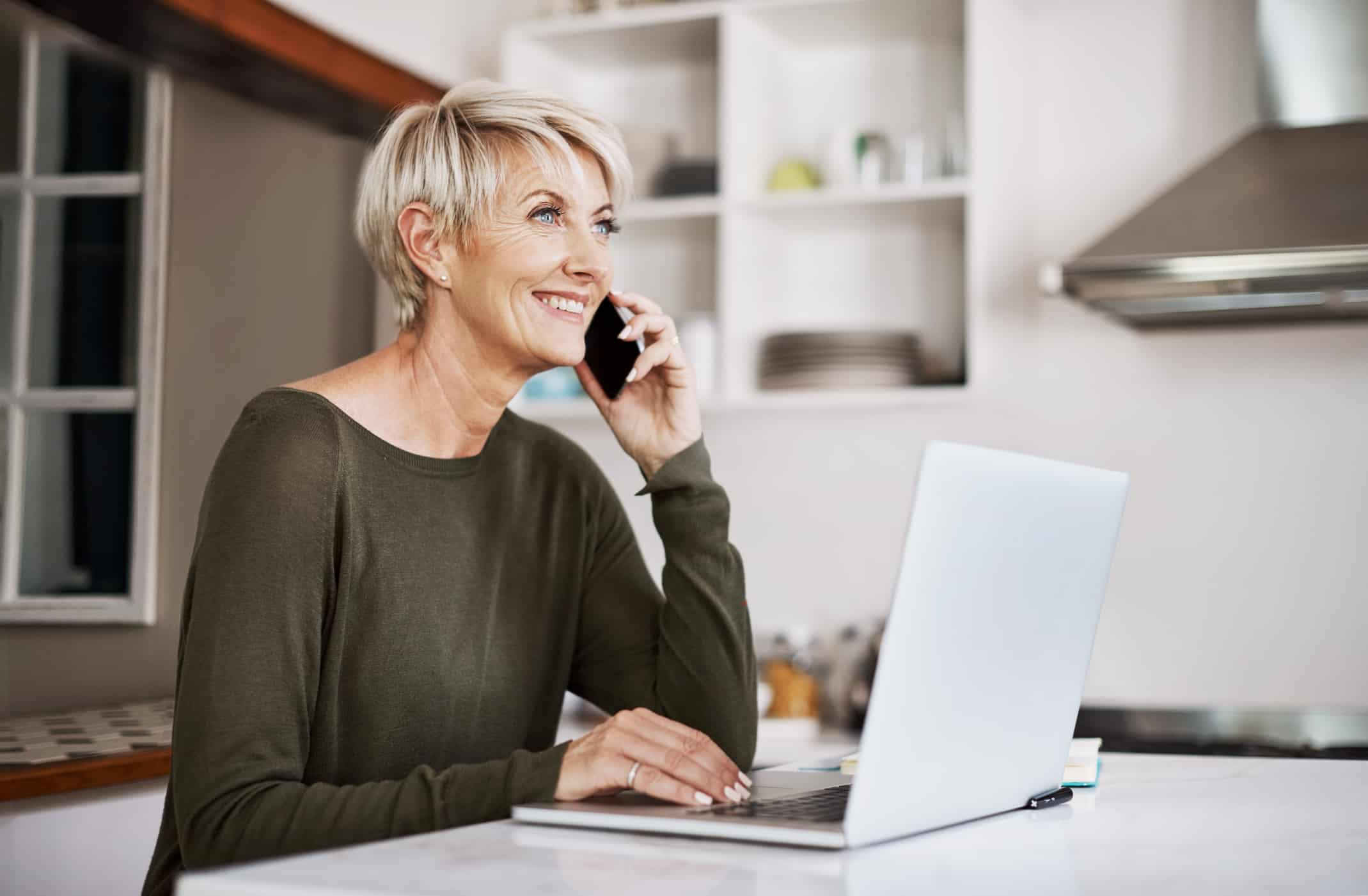 Older woman gets a scam telephone call
