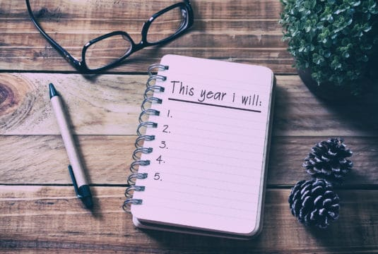 2018 New Year's Resolution planning notes