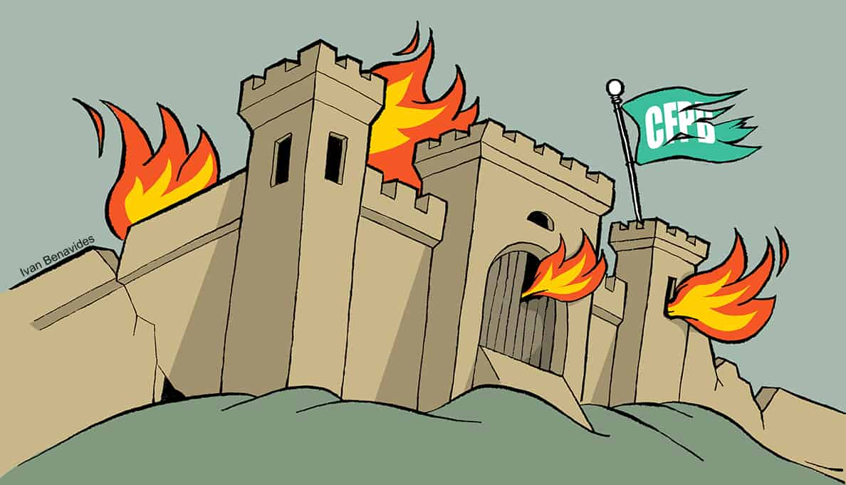 The CFPB is under siege and on fire (illustrated)