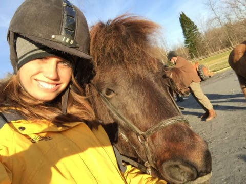 Lisa from Mad Money Monster with a horse