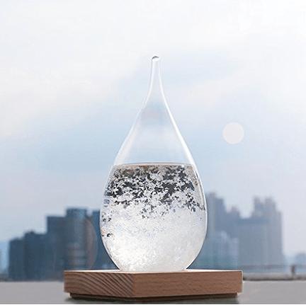 storm glass, weather forecast bottle, meteorological display bottle