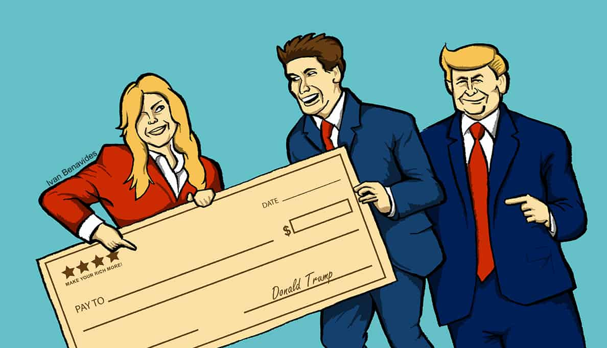 Donald Trump's tax plan results in bonuses for workers (illustrated)