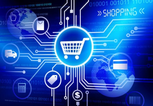 e-commerce shopping on amazon
