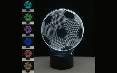 Holograma de balón de fútbol