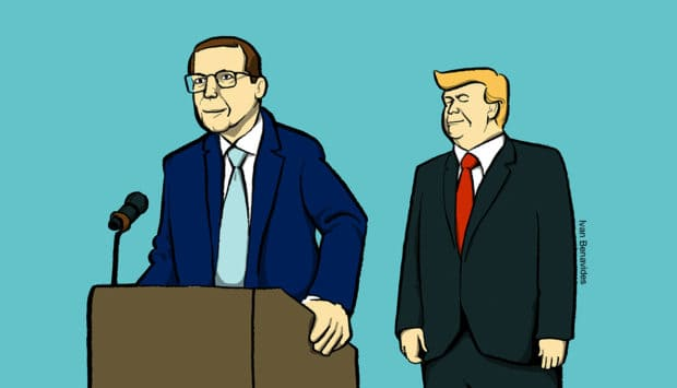 Donald Trump and the new Health Secretary Alex Azar will fix prescription drug prices (illustrated)