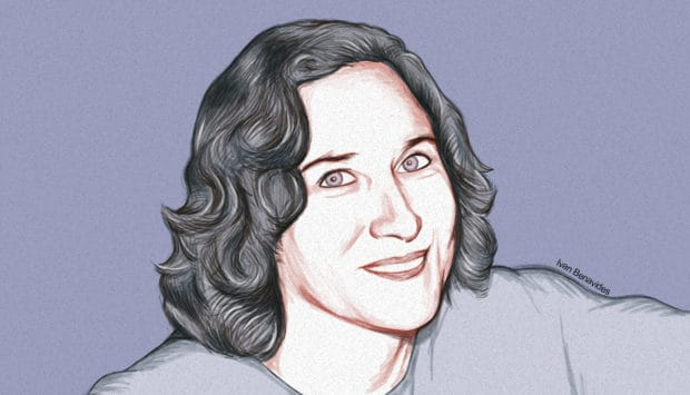 Debt.com Sweepstakes Winner Tina Harwood (illustrated)