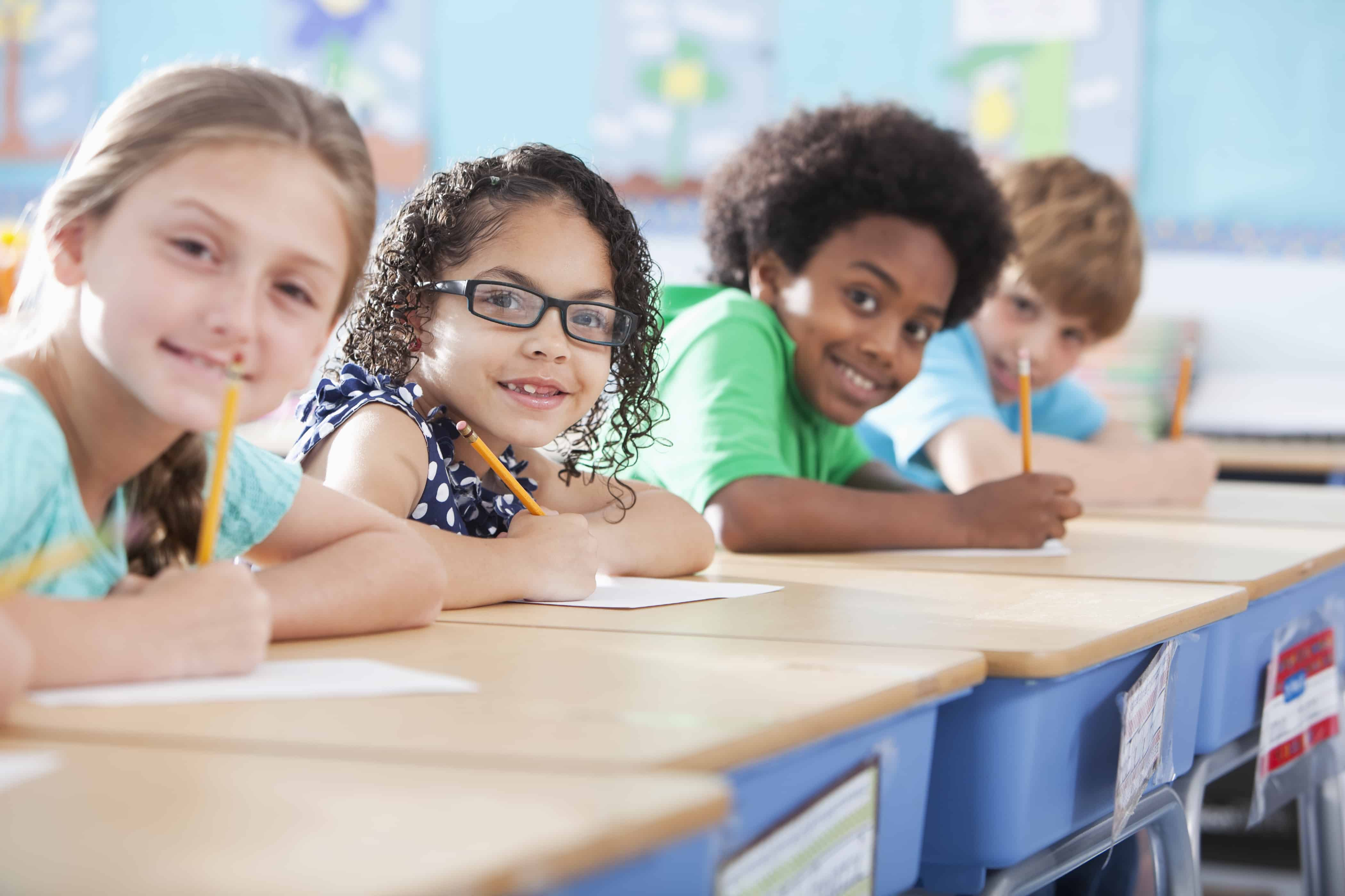 Elementary school kids learning; just not financial education.
