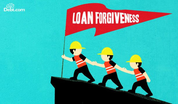 Working to meet eligibility requirements for a student loan forgiveness program