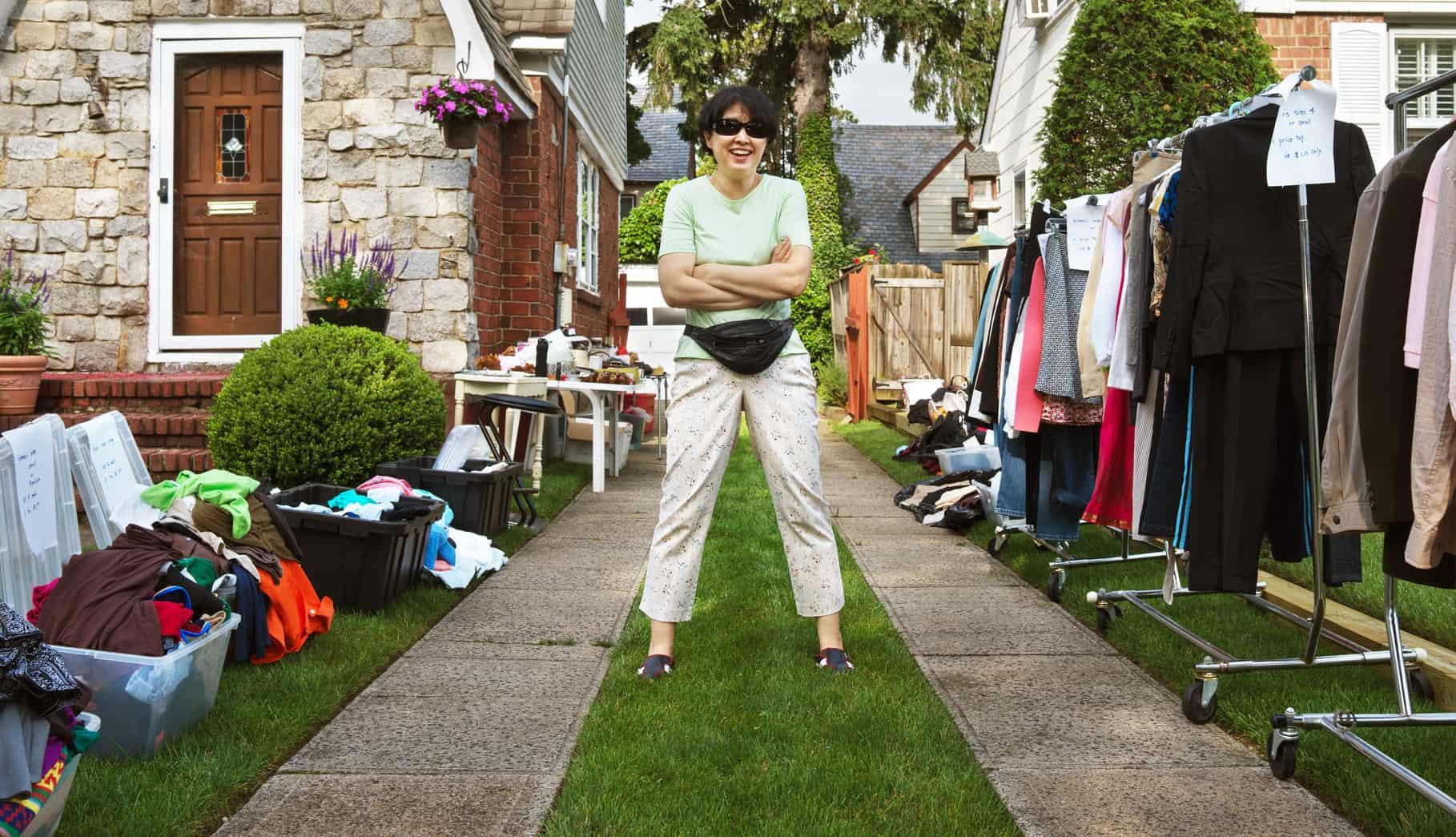 yard sale lady