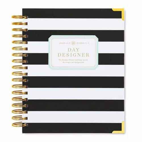 day planner with stripes