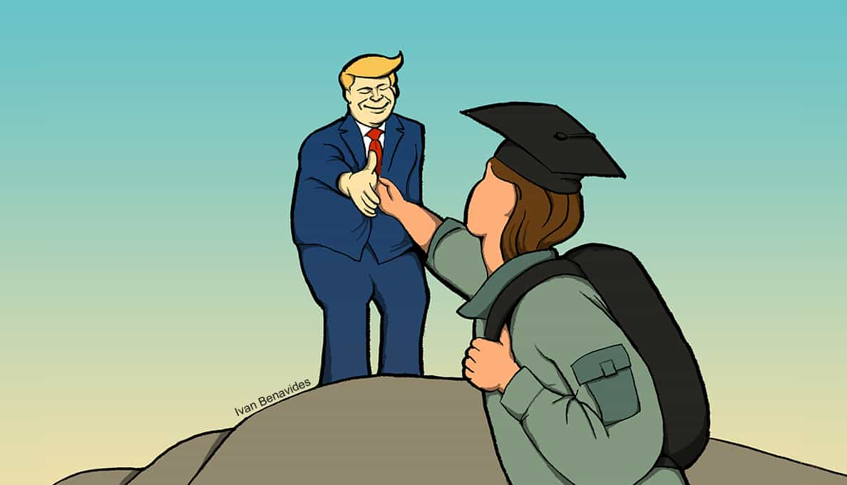 Donald Trump wants to help veteran student loan borrowers (illustrated)
