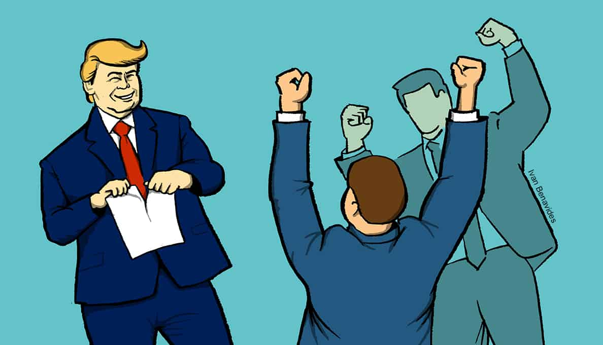 Donald Trump rips up Dodd-Frank as bankers cheer (illustrated)