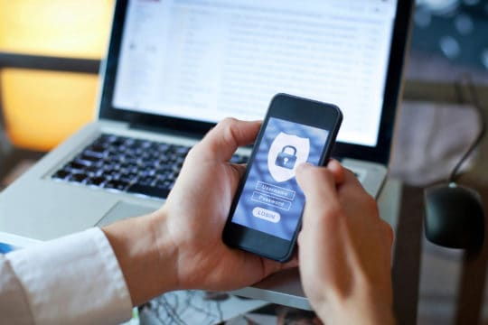 Mobile application access, login and password to avoid identity theft